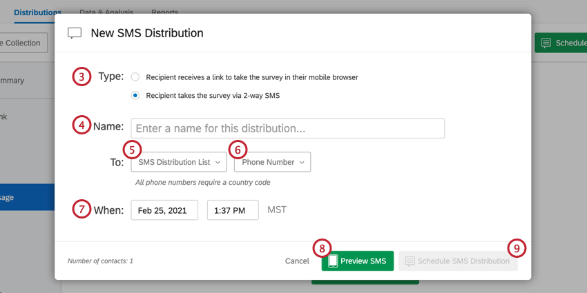 New 2-way SMS Distribution scheduling