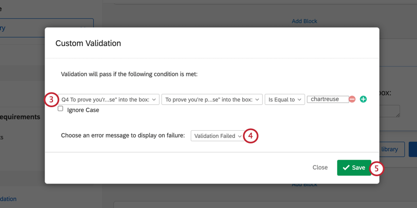 adding validation logic and selecting a message