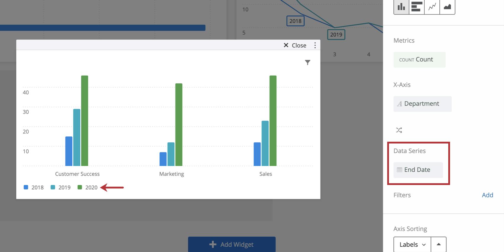 Data series field