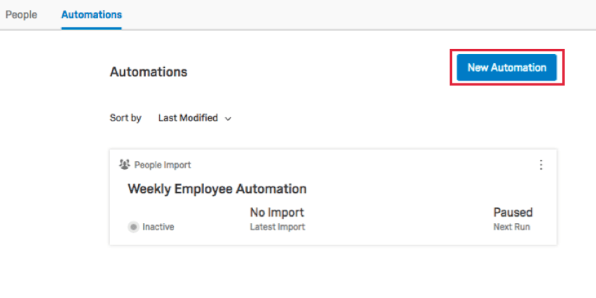 clicking new automation from the automation screen