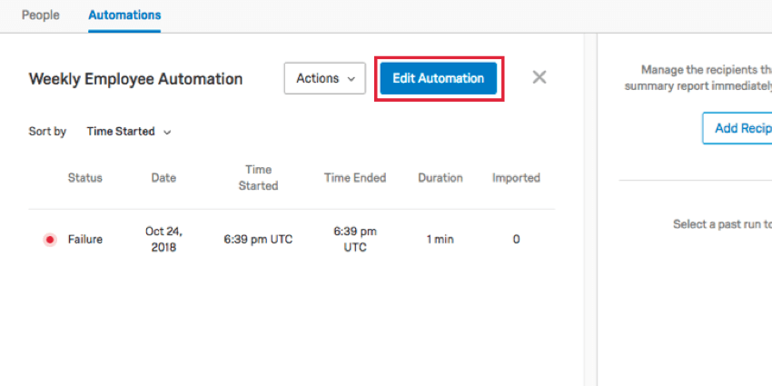 the edit automation button that appears when viewing an automation history