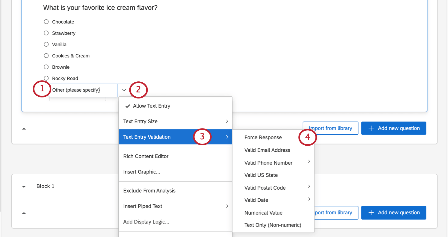 adding text entry validation to a text entry box