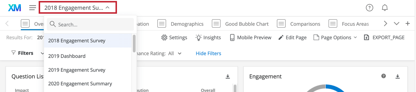 Top-left of the dashboard has its name, which when clicked allows you to select a different dashboard