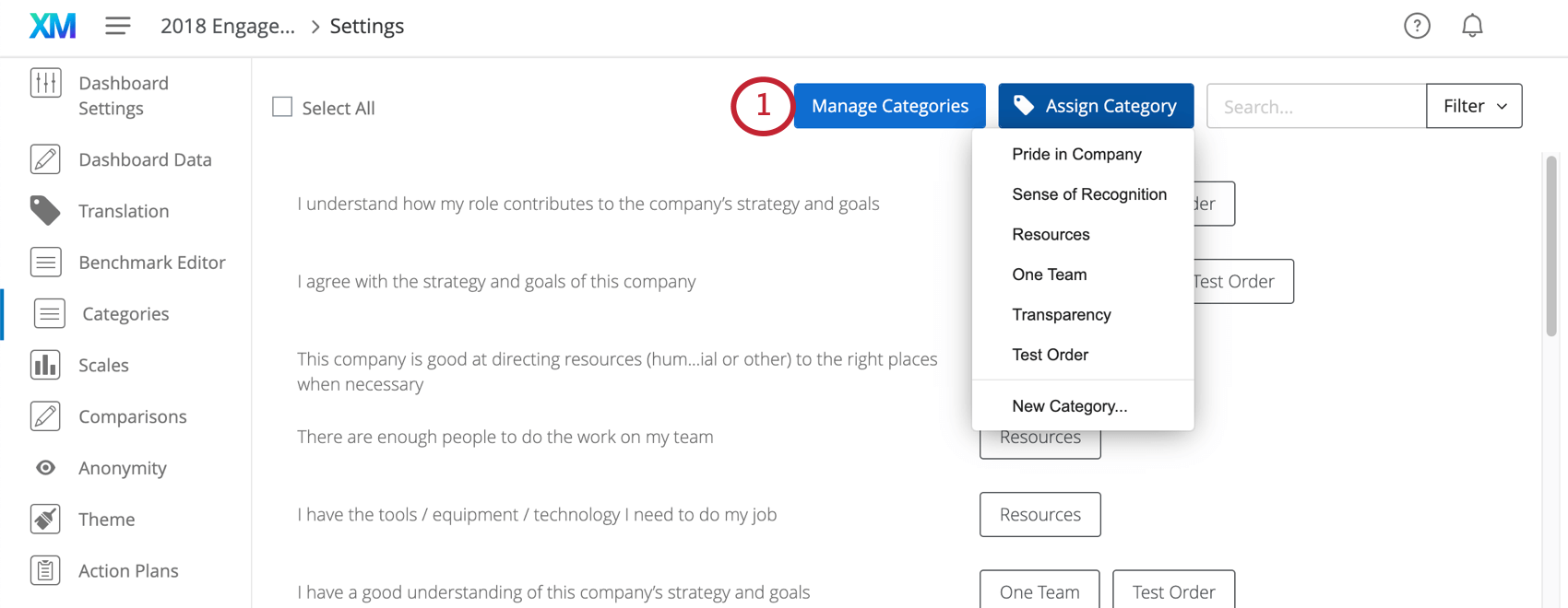 image of the manage categories button