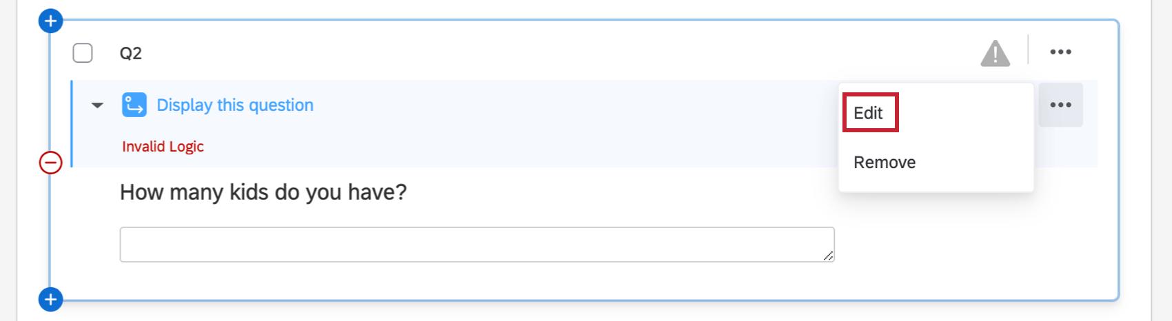 Editing invalid logic