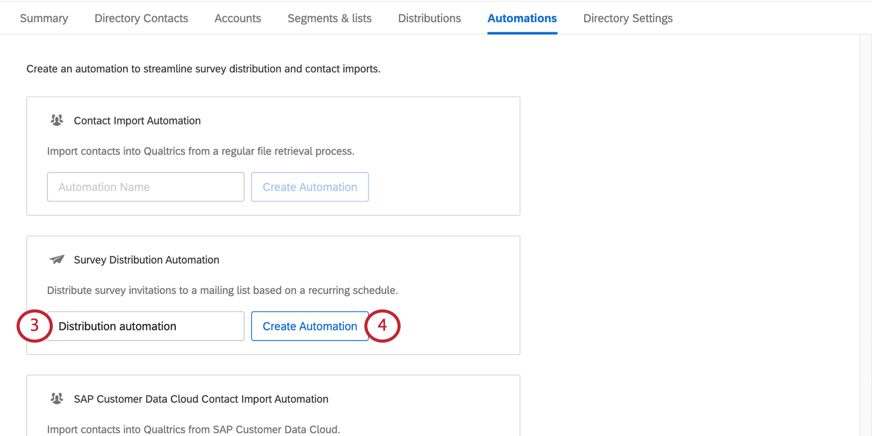 Creating a survey distribution automation