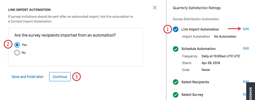 Very first section of automation you can edit