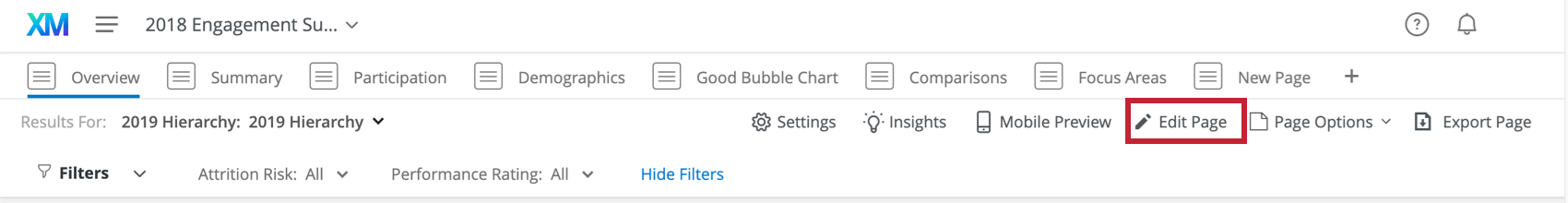 Edit Page button on the top-right