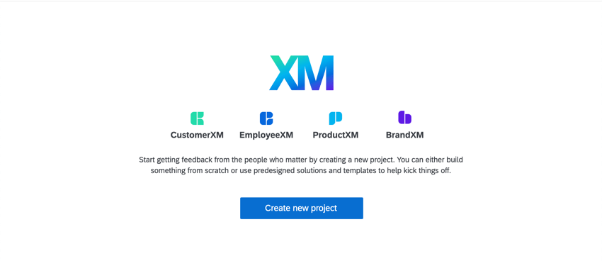 Empty Projects page with Create Project button in center of screen