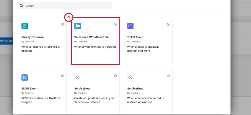 the salesforce workflow rule event