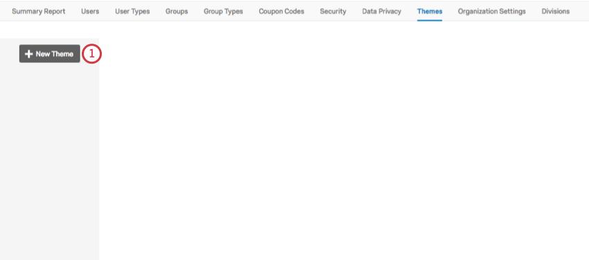 New Theme button in dark gray to upper-left
