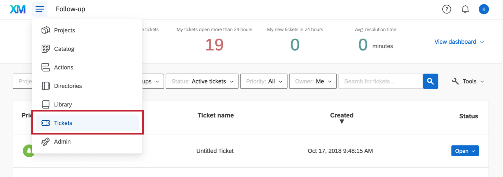 Tickets in navigation menu you can find on every page of the website
