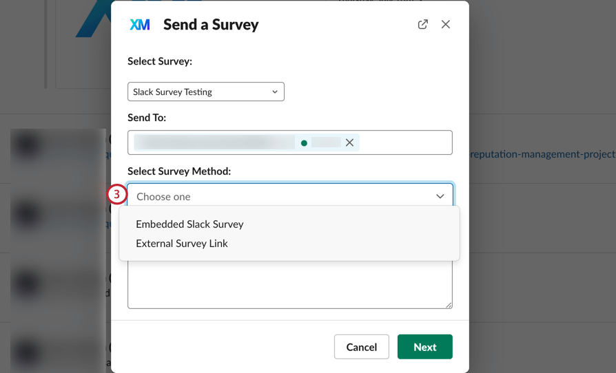 choosing the desired survey method