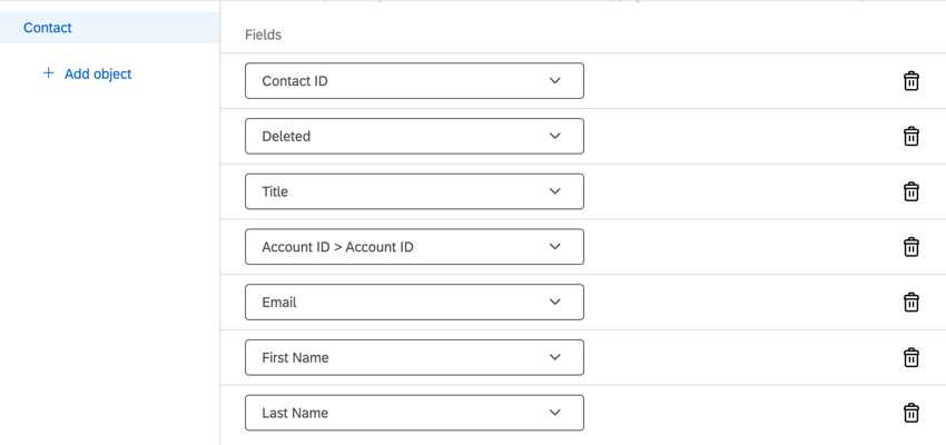 the completed mapping for salesforce contacts