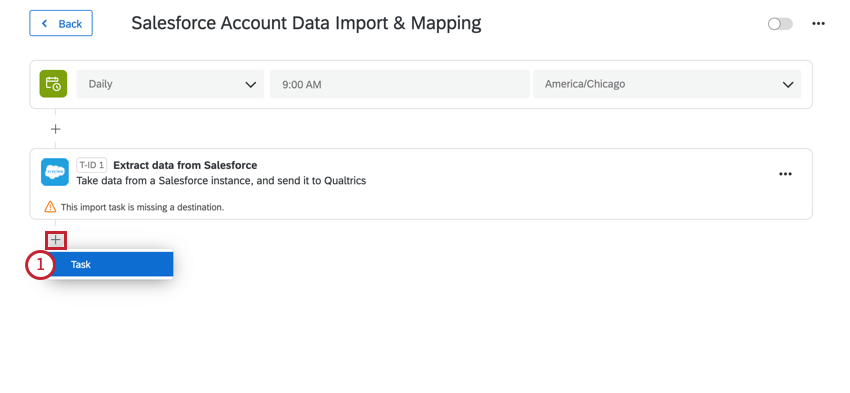 after extracting data, adding a load task
