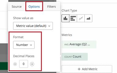 Options Tab in a widget
