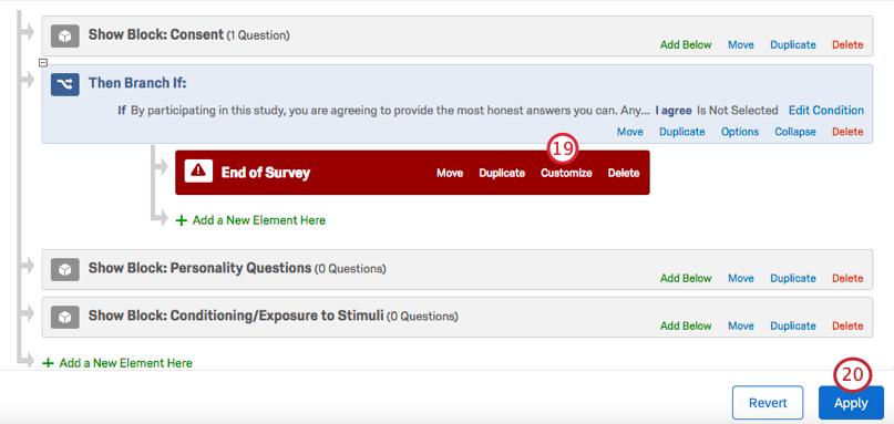 Saving the survey flow