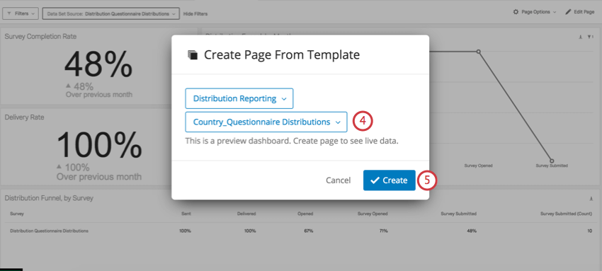 Create button in blue in bottom-right corner of create page from template window