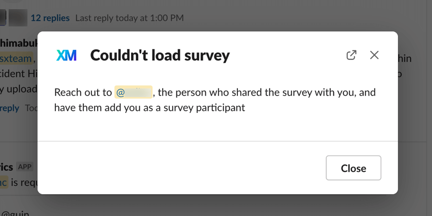 """the """"couldn't load survey"""" error"""