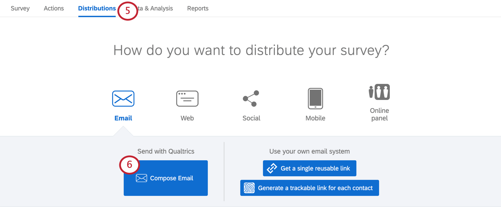 Email option in distributions tab