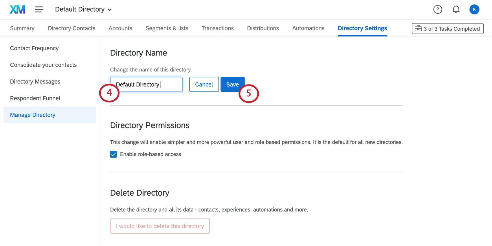 Saisir le nom dans un champ et cliquer sur le bouton Enregistrer bleu