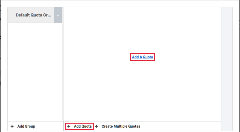 Add a Quota button in middle of the page or bottom of the page
