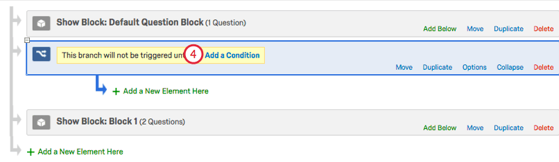 Add a Condition option within newly created Branch
