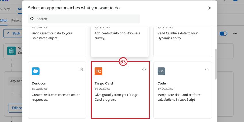 choosing the tango card task