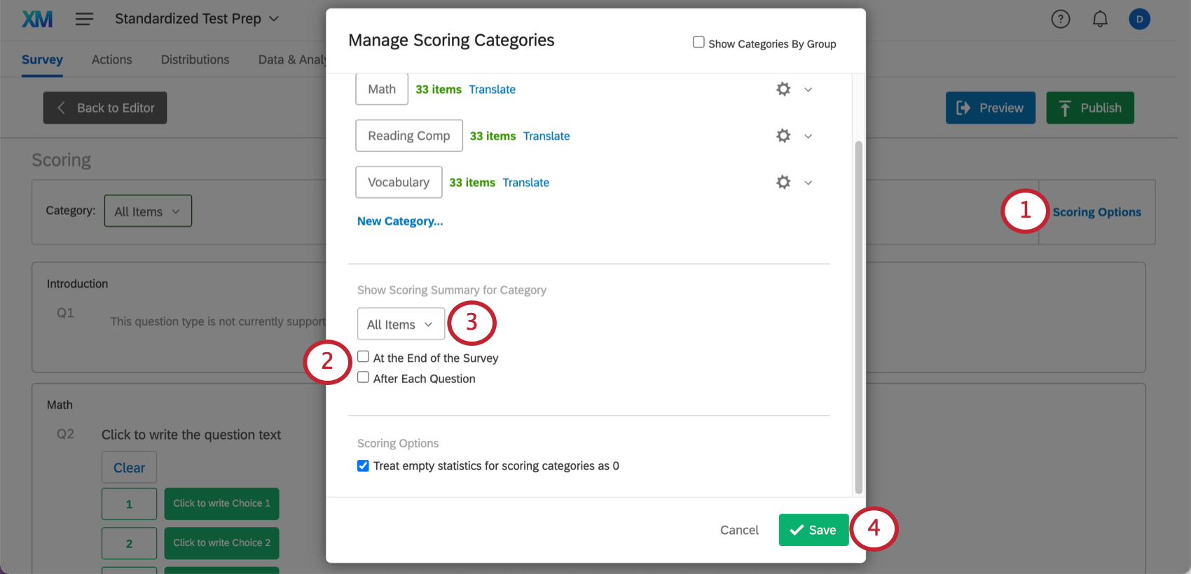 Removing end of scoring messages