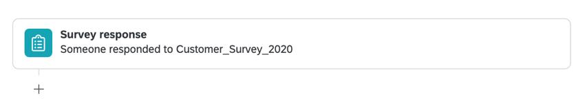 a survey response event