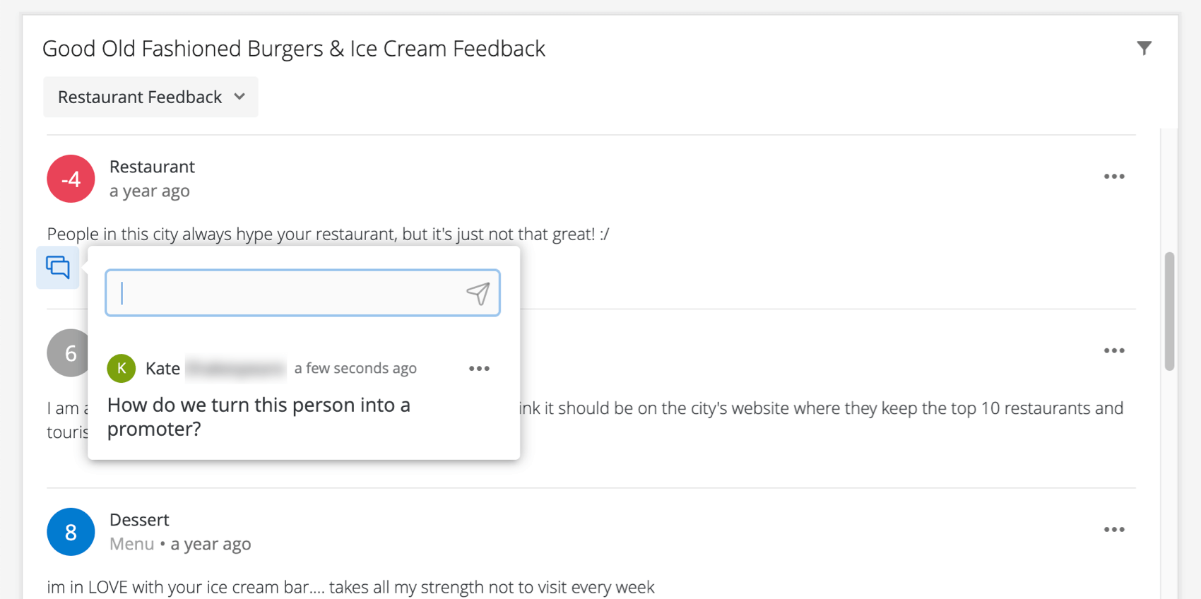 Comment modal showin the comment already left, but also showing a field for another one