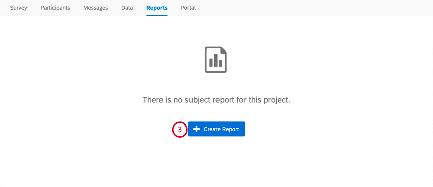 clicking create report in the reports tab