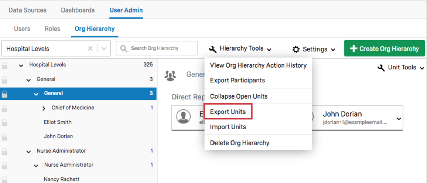 Fourth option in tools menu