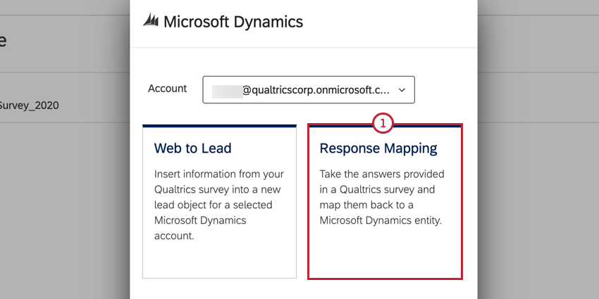 selecting response mapping