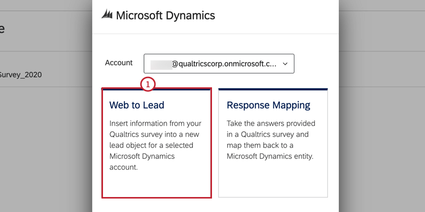 selecting web to lead