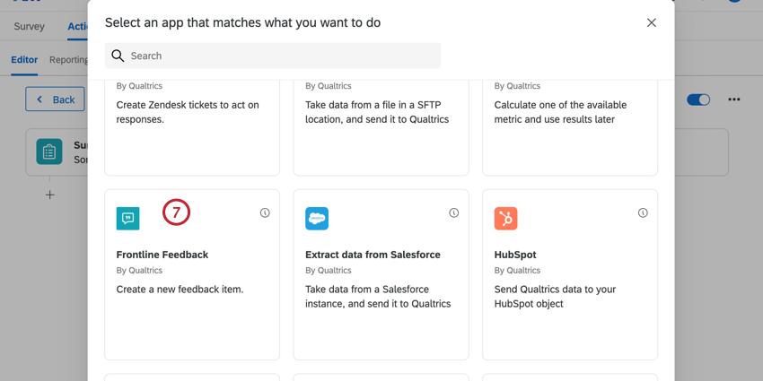 selecting the frontline feedback task