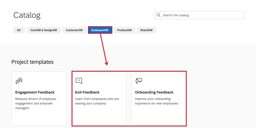 the exit feedback and onboarding feedback templates