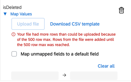 the error when you have more than 500 mappings