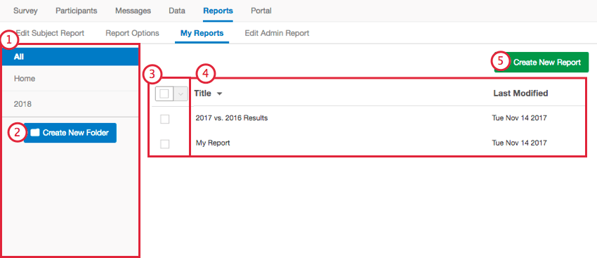 navigating the my reports tab