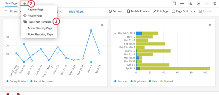 Adding page from template to dashboard