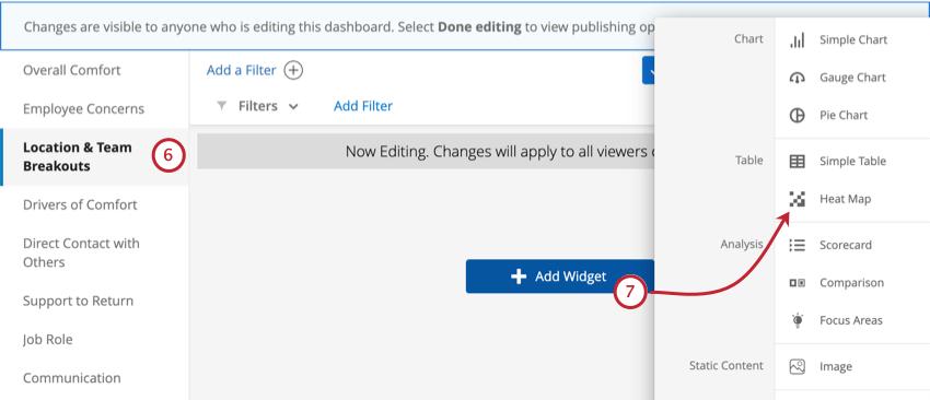 Add widget button in blue