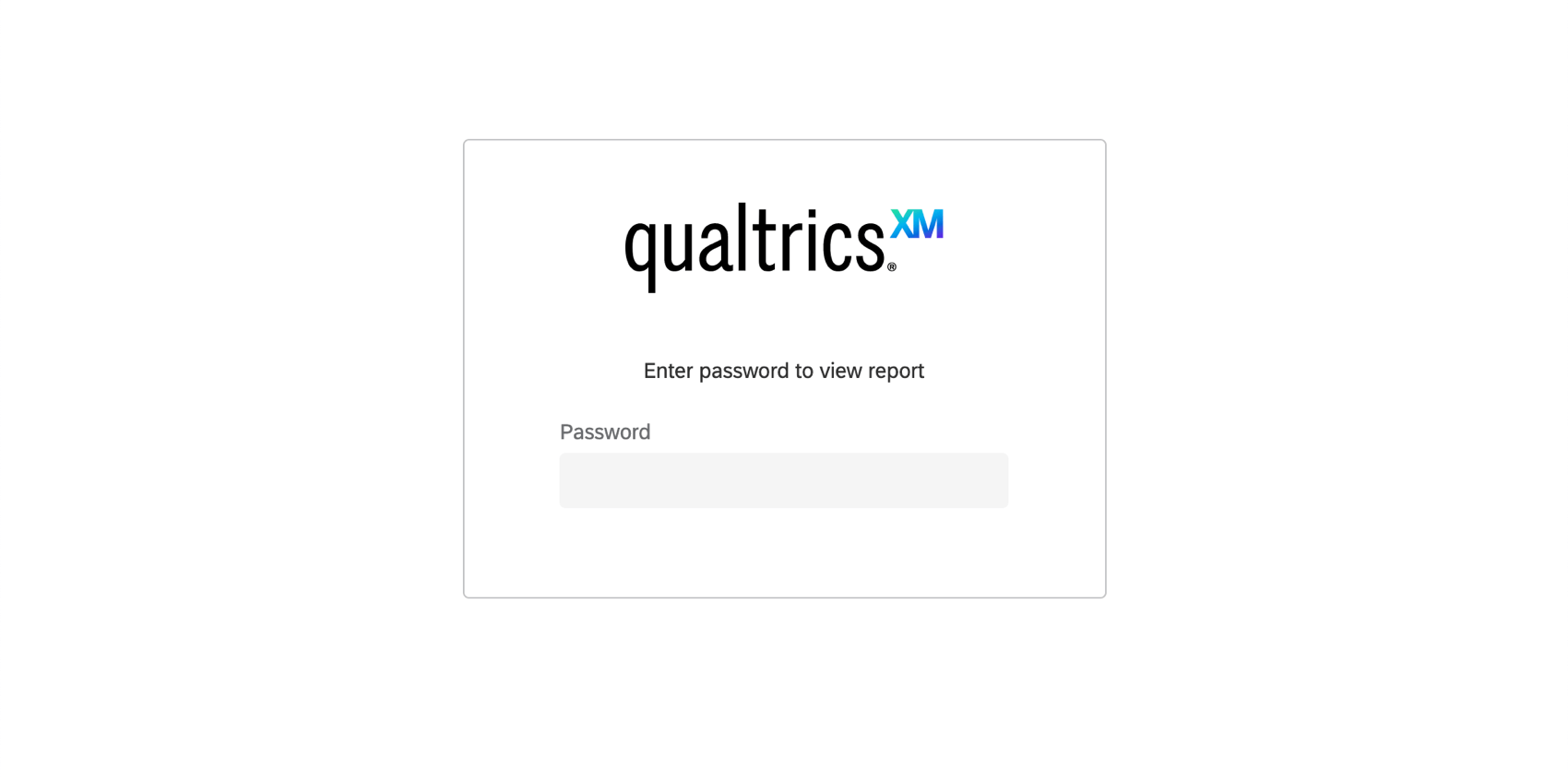 Login page for a report