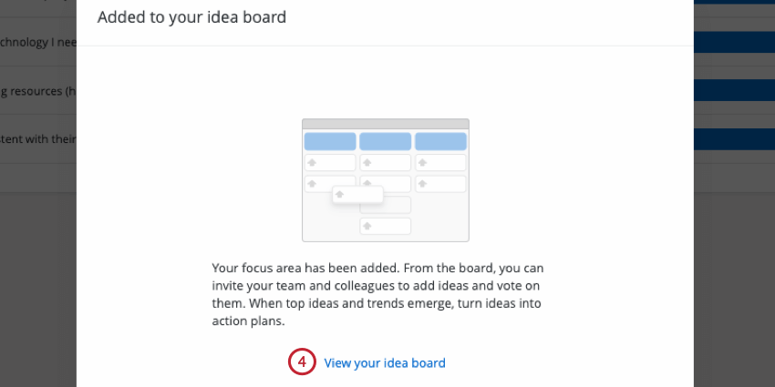 clicking view your idea board