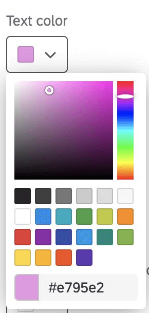 Color dropdown in the look & feel