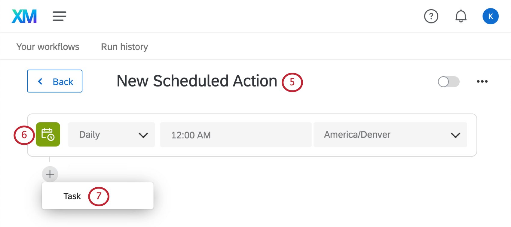 renaming a workflow, setting a sechedule, and adding a task