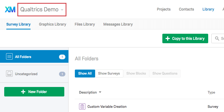 Personal and Group Library dropdown menu in top-left corner of Library page