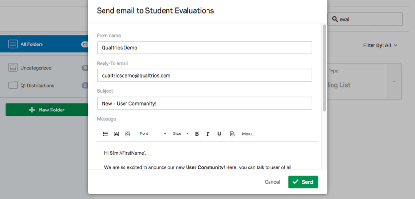 Email draft