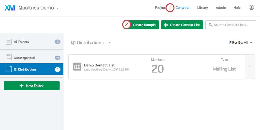 Contacts Sample Qualtrics Support