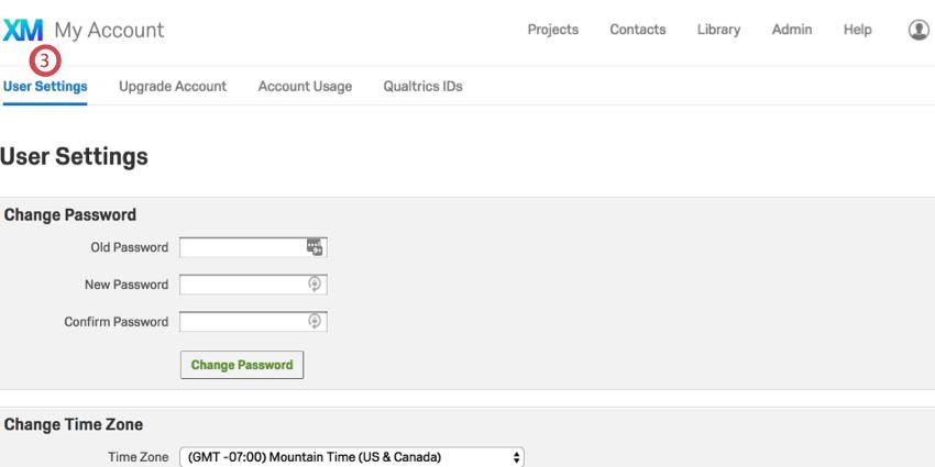 Account Settings - Qualtrics Support