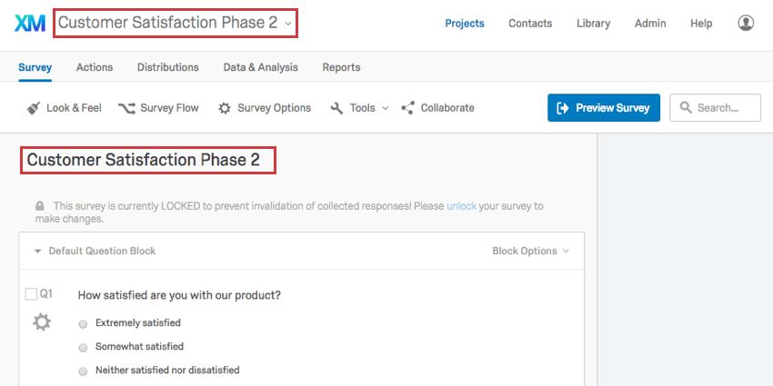 Project closure questionnaire.
